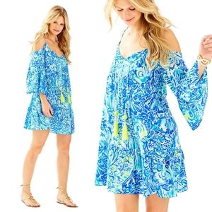 Lilly Pulitzer Alanna Dress Blue Crush After Party